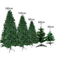 Artificial Christmas Tree Green Miniature Tree Plastic Christmas Decorations Holder Base for Christmas Home Party Decoration