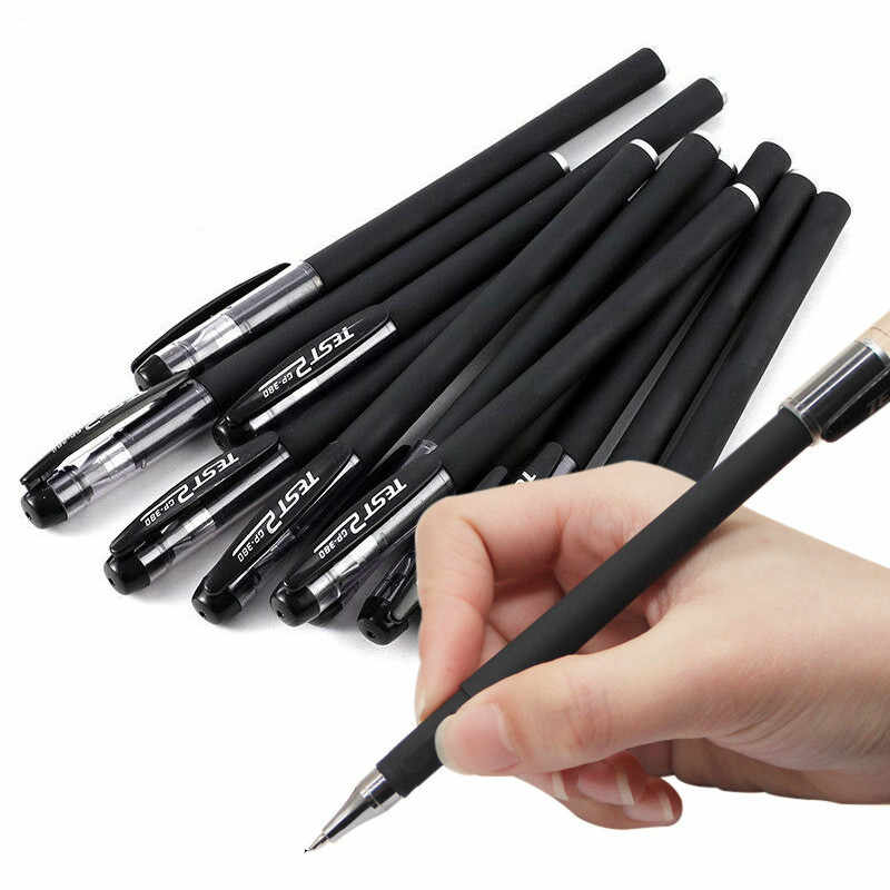 Juxia 1 pièces/lot 0.5mm Ultra Fine Finance Gel stylo encre noire recharge gelpen pour fournitures de bureau scolaires papeterie stylos