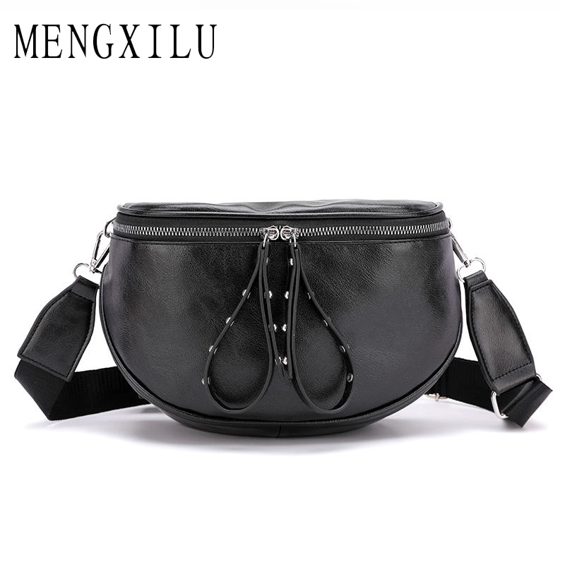 Luxury Women Bags Designer 2019 Female Shoulder Bag Ladies Leather Chest Bags Female Belt Women Waist Bags Ladies Bolsa Feminina