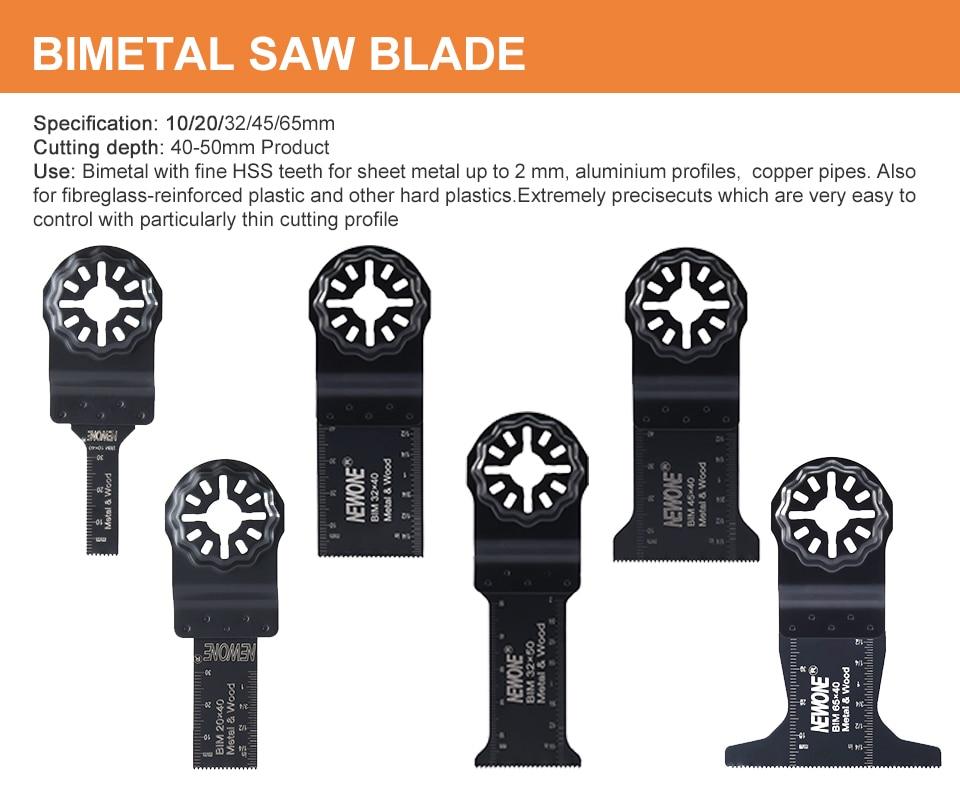 NEWONE 66PCS Starlock Blade  Oscillating Multi-Tool Saw Blades Set