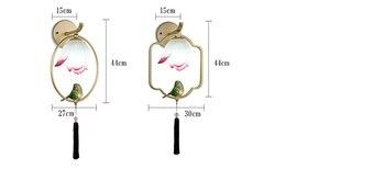 Ã�ンクブルーホワイト蓮ランプシェードウォールランプ現代金属鳥リビングルームベッドサイド階段クリエイティブホームライト