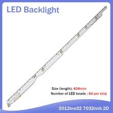 3V  LED Backlight Strip For Samsung UA32ES5500 UE32ES5500 Bar Kit TV LED Line Band Lens 2012SVS32 7032NNB 44 2D REV1.1 REV1.0