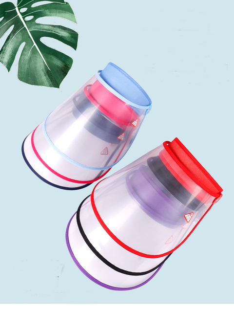 Safety Transparent Mask Full Face Shields Hat Saliva Virus Protective Clear Flip Up Visor Face Cover Protection Caps 1