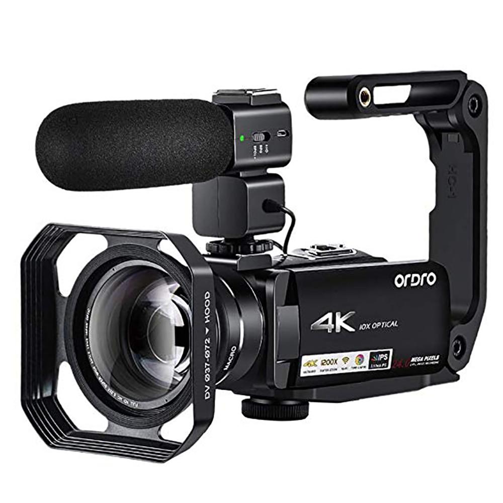 Video-Camcorder Vlogging Camera Ordro Camaras Youtube Filmadora Optical-Zoom Full-Hd