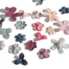 30pcs Mini Exquisite Cloth Multicolor Flower Handmade Artificial Flower Head Wedding Home Decoration DIY Cheap Craft Fake Flower