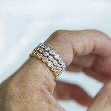 2017 new arrive bezel setting circle women jewelry three col