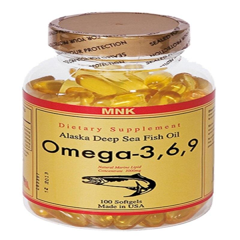MNK Omega 3,6, 9 Fish Oil Softgel 100
