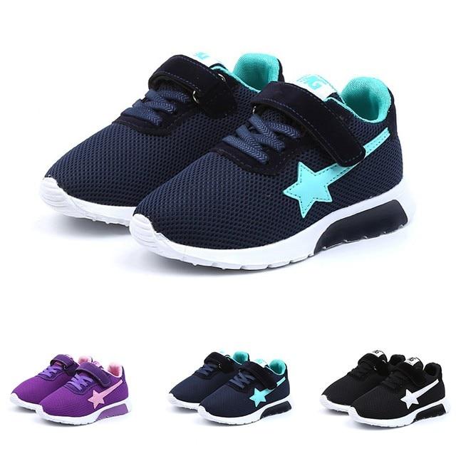 Kids Shoes Children Kids Boys Girls Star Mesh Breathable Sport Running Sneakers Shoes Children Shoes детская обувь Zapatos Niña