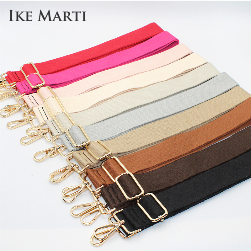 IKE MARTI Long Shoulder Bag Strap Cotton Fashion Wide Replacement Strap For Bags Nylon Woman Messenger Accessories Bag Straps