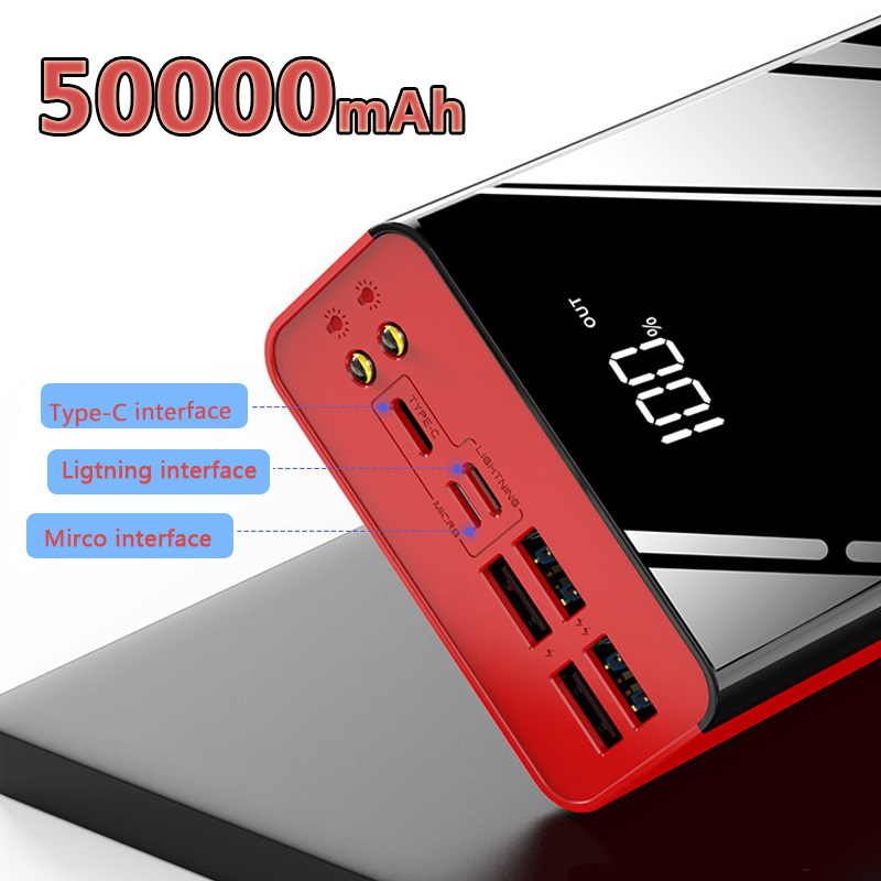 Power Bank 50000mAh Portable Charger For Samsung Xiaomi mi Mobile External <font><b>Battery</b></font> Powerbank <font><b>50000</b></font> <font><b>mAh</b></font> Poverbank Phone image