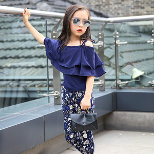 Image 3 - Girls Set Clothes Kids Fashion Top Pant Two Piece Children Summer Suit Girls Boutique Outfits 7 8 9 10 11 12 13 14 Years