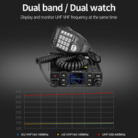 vhf uhf השחור החדש Retevis RT95 Dual Band VHF 144-146MHz UHF 430 ~ 440MHz 200 ערוצים נייד לרכב רדיו A9129A (3)
