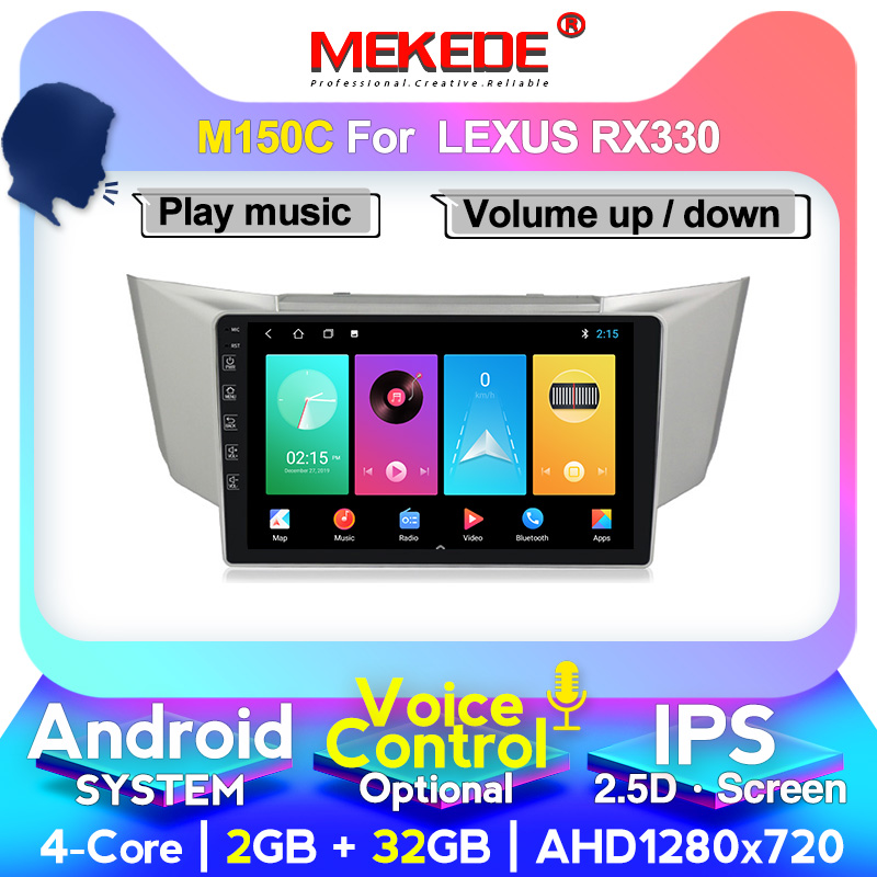 MEKEDE 8core 4+64GB For <font><b>Lexus</b></font> RX300 <font><b>RX330</b></font> RX350 RX400H Toyota harrier 2003-2009 Car Radio Multimedia Video Player Navigation GPS image
