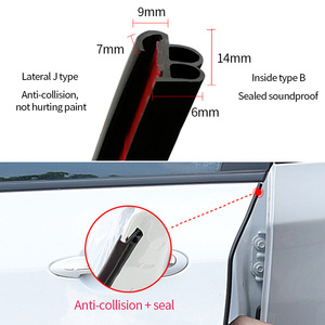 Image 5 - Car Door Seal Strip Stickers Anti Dust Soundproof Sealing BJ Type Noise Insulation Auto Interior Accessories Styling Rubber