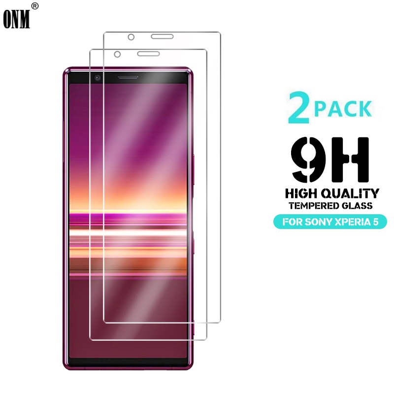 2 Pcs Tempered Glass For Sony Xperia 5 Glass Screen Protector 2.5D 9H Premium Tempered Glass For Sony Xperia 5 Protective Film