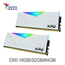 Adata Xpg Spectrix D50 Rgb Led 3200 Mhz 3600Mhz 8Gx2 DDR4 Xmp 2.0, 16GX2 Dimm Geheugen