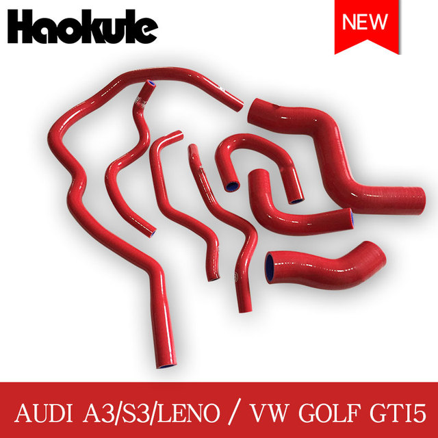 ביצועים רדיאטור סיליקון צינור ערכות עבור פולקסווגן גולף GTI5 MK5 טורבו GTI 2.0/אאודי A3 2.0 FSI/S3 TTMK2/ליאון CUPRA 2003 2009