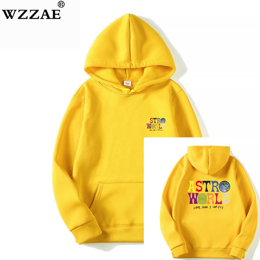 Hoodies Pullovers Alphabet Hip-Hop Printing Street-Style Bzpovb Autumn Winter Men's Fashion