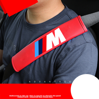 2Pcs NEW Fashion Car leather Brand Logo Safety Shoulder Belt For Bmw x1 x3 x5 x6 z4 f10 f20 f30 e36 e39 e46 e60 e90 Car-Styling kalaisike custom car floor mats for bmw all model x3 x1 x4 x5 x6 z4 525 520 f30 f10 e46 e90 e60 e39 e84 e83 car styling