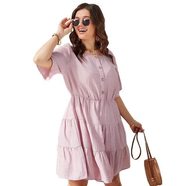 Solid Color Women's  Elegant Dress knee length Skirt 5