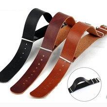 Alta qualidade pulseira de couro zulu pulseira otan men women strap 18mm 20mm 22mm 24mm relógio ajuste acessórios substituição
