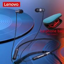 Original lenovo he05 bluetooth 5.0 sem fio magnético neckband correndo esportes fone de ouvido earplug com cancelamento ruído à prova dwaterproof água