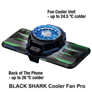 Image 4 - Original Black Shark FunCooler fan cooler Liquid Type C RGB For xiaomi iPhone For Android phone iOS 67 88mm phones Cooling Fan
