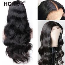 Perruque Lace Front Wig Body Wave péruvienne Remy, cheveux naturels, 13*4, pre-plucked, avec Baby Hair, 34 pouces, pour femmes