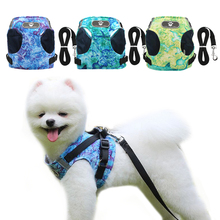 New Dog Harness and Leash Set Breathable Puppy Vest For Small Medium Dogs Reflective Walking Collars Harnesses