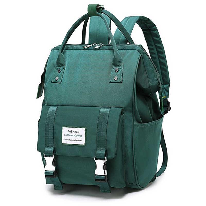 حقيبة ظهر نسائية من النايلون حقيبة مدرسية جديدة للمراهقين حقيبة ظهر كبيرة حقيبة ظهر نسائية للسفر حقيبة ظهر للعناية بالأطفال