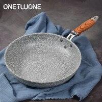 Marmor Stein Antihaft-pfanne mit Wärme Beständig Bakelit Griff  Granit Induktion Ei Pfanne  Spülmaschinenfest