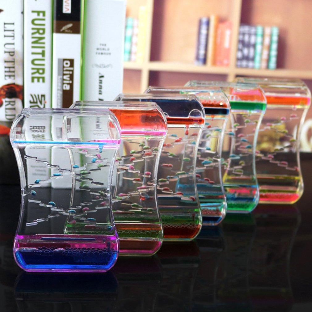 OCDAY Liquid Oil Droplet Dynamic Water Leakage Hourglass Bubble Ornaments  Best Birthday Gift For Children Women Kids Child