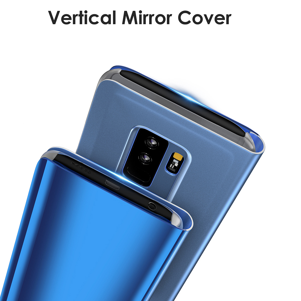 mirror flip cover for samsung galaxy s8 s9 plus note 8 9 full cover (2)