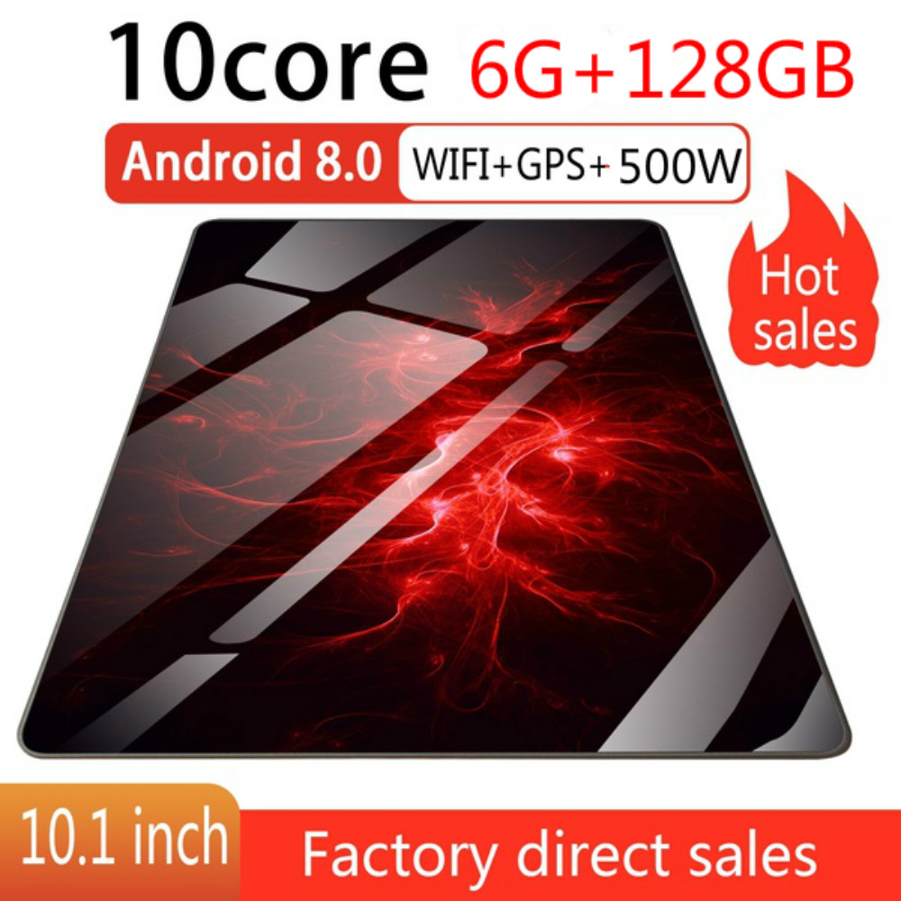 10.1 Inch  10 Core Tablets With 6+128GB Wifi Tablet Android 8.0 Dual SIM Card  4G Call Wifi Tablets PC Androidtablet For Kids