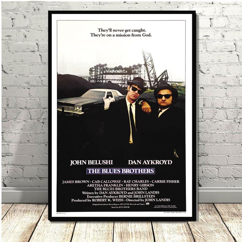 Постер с принтами Blues Brothers, Винтажный Фильм, ТВ серия, Классический Холст, картина маслом, искусство, настенные картины для гостиной, домашни...