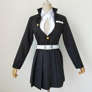 Image 4 - Anime Demon Slayer Cosplay Costume Kimetsu No Yaiba Kanroji Mitsuri Kimono Coat Women Dress Uniform Custom Made