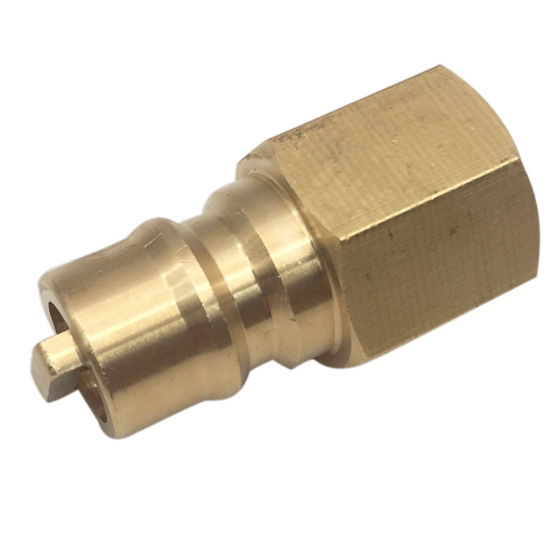 Propane Brass Quick Connect Fitting Adapter Female Plug x 3/8 NPT For RV BBQ