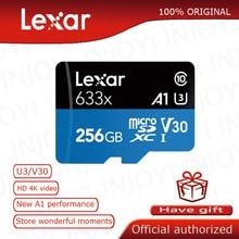 Lexar micro sd card High-Performance 633x UHS-I Memory cards 256GB Max 95M/s Class10 A1 3D 4K flash tf card mecard Micro sd kart
