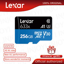 Lexar-carte micro sd haute Performance 633x UHS-I, 256 go Max, 95 mo/s, classe 10, A1, 4K, tf, flash