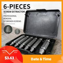 Meijuner 6 sztuk materiał uszkodzone śruba Extractor prędkość Out wiertła zestaw narzędzi wykrętarka do zerwanych śrub Repair Tool tanie tanio Maszyny do obróbki drewna NONE Inne CN (pochodzenie)