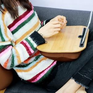 Image 3 - ALWAYSME Lap Desk Multi Function Knee Desk For Laptop Macbook iPad Tablet Laptop Phone Book Portable Hand Pilliow Knee Cushion