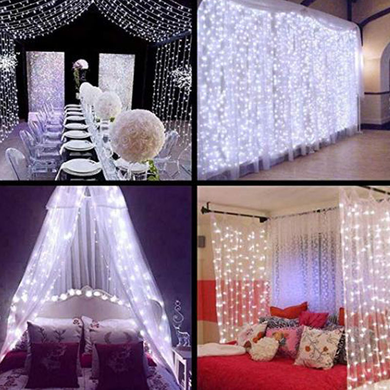 3×3M LED String Lights Christmas Garland Fairy Lights Holiday Lighting For Curtain/Wedding/Garden/Party/Home Decoration