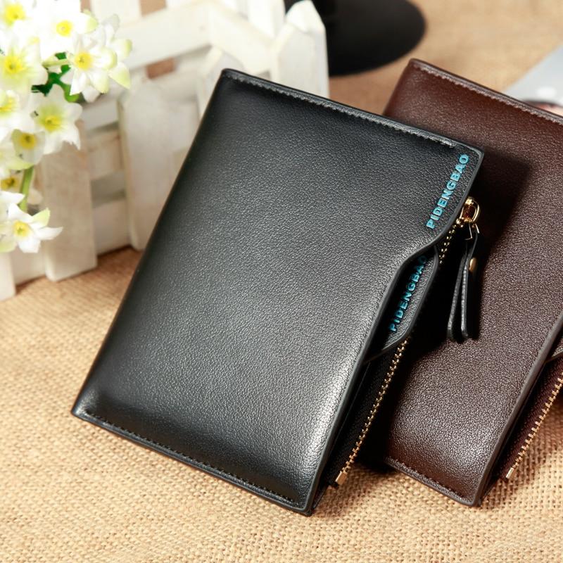 New Korean Casual Men's Wallet Short Vertical Locomotive British Casual Multi-function Card Bag Zipper Coin Pocket Men Wallets