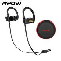 Auriculares Mpow Flame Bluetooth resistentes al agua estéreo HiFi auriculares deportivos auriculares inalámbricos con micrófono y funda EVA para iPhone X/8/7