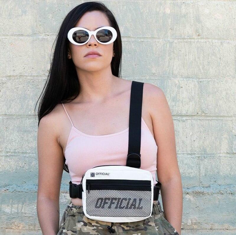 2020 Fashion Streetwear Men Tactical Vest Bag Unisex Hip Hop Style Crossbody Chest Bags Letter Pattern Chest Rig Vest Waist Bag