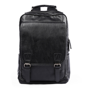 MOYYI Simple Patchwork Large Capacity Mens Leather Backpack For Travel Casual mochila Men Daypacks Travle