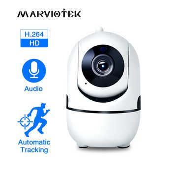 Камера видеонаблюдения Full HD, сетевая инфракрасная мини-камера с функцией автослежения, ночного видения, поддержка WiFi, IP, 1080 пикселей