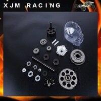 Metal 3 Speed Gear Set Transmission Kit for 1/5 HPI KM ROVAN BAJA 5B 5T SS Rc Car Parts