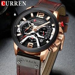 CURREN Relogio Masculino Sport Watch mężczyźni Top marka luksusowy zegarek kwarcowy męski chronograf data wojskowe na rękę zegarki wodoodporne 8329