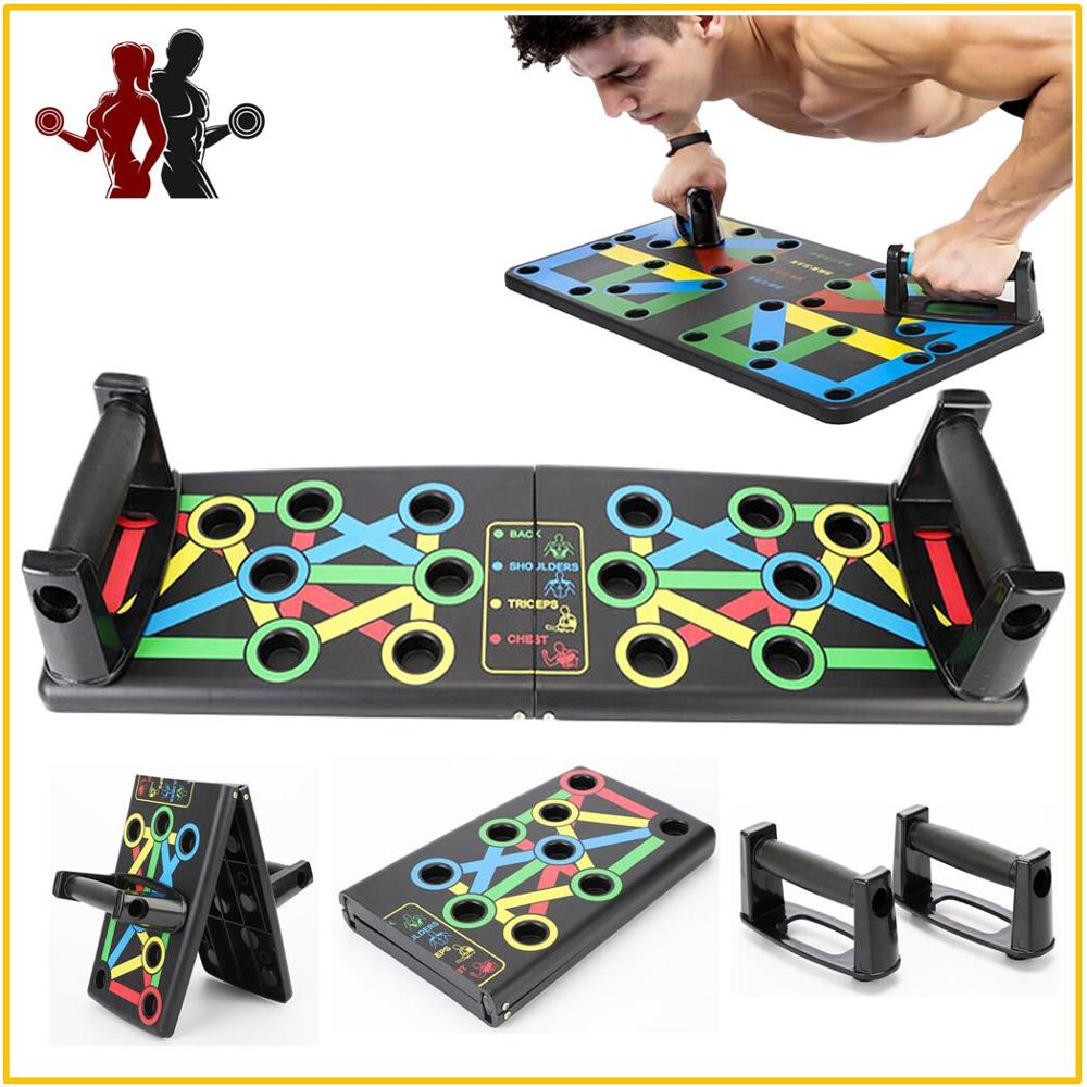 Foldable 9 In 1 Push Up Board For Indoor Home Body Building Fitness Exercise Tools Men Women Push-up Stands For GYM Home